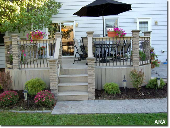 Outdoor deck decorating ideas home design elements for Decks and patios design ideas
