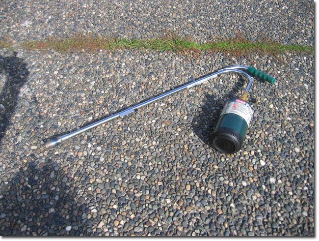 You can use this small torch to burn the weeds that grow between the cracks on your driveway.