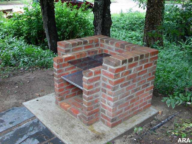 brick outdoor oven