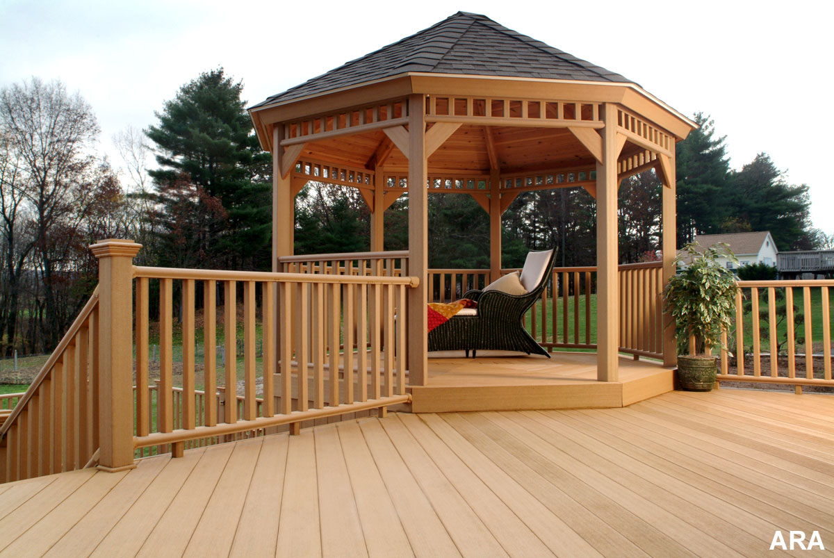 decks on pinterest gazebo screened gazebo and deck design ForDeck With Gazebo
