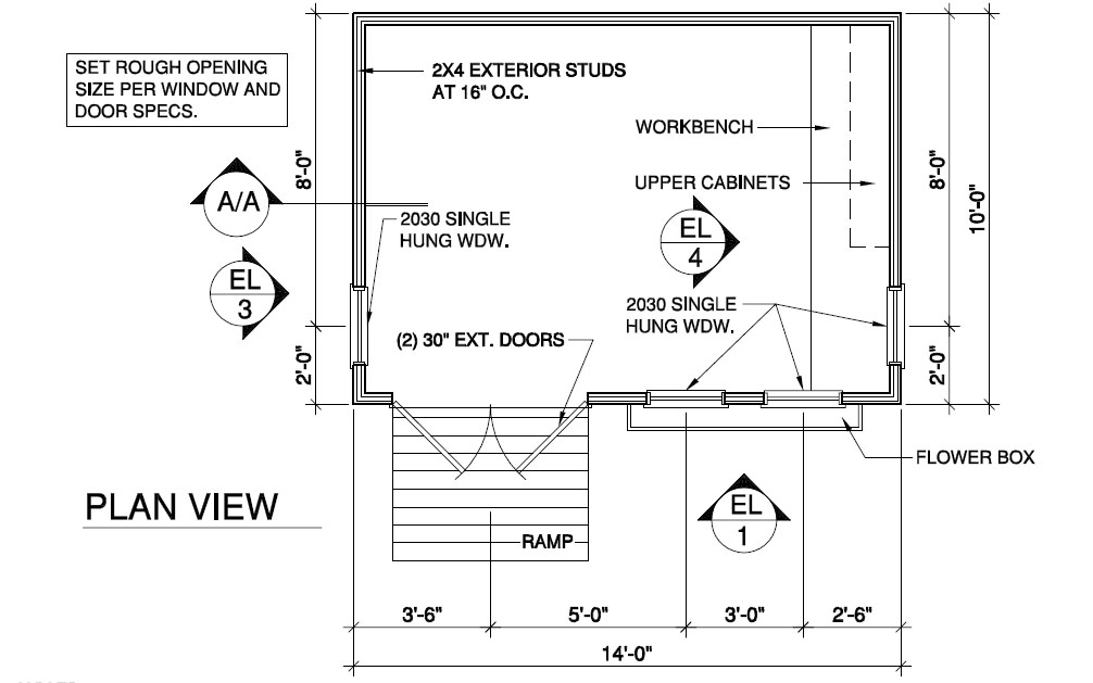 Build a shed with these wood shed plans
