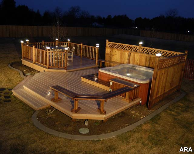 Backyard Deck Plans : Outdoor deck lighting