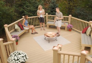Use composited decking material to build your new deck