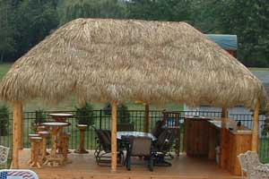 Palm Thatched Tiki Hut