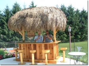 Enjoying a new tiki bar