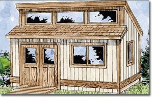Use shed plans to build this outdoor storage shed