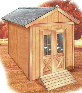 Build this great looking 8x12 shed using free plans