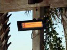Stay warm on your deck or patio with this mounted infrared patio heater.