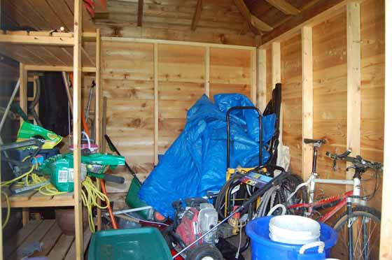 Here's a photo of my garden shed before I got it organized