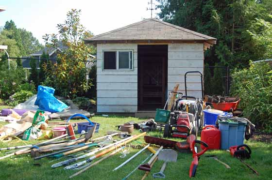 A Photo Of Getting My Garden Shed Organized