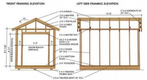 A good example of a detailed garden shed plan