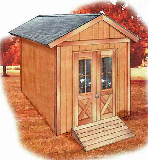 Download the plans and build this classic 8x12 garden shed