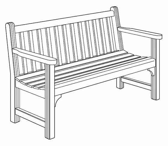 Build this garden bench with free plans